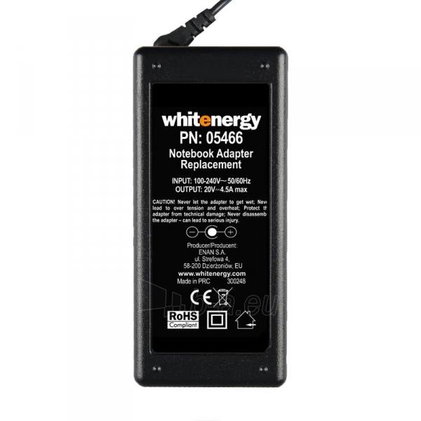 Nešiojamo kompiuterio pakrovėjas Whitenergy 20V/4.5A 90W, 5.5x2.5mm Paveikslėlis 4 iš 5 250256401003