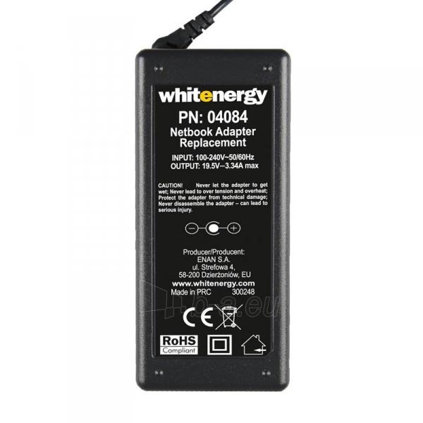 Nešiojamo kompiuterio pakrovėjas Whitenergy Dell 19.5V, 3.34A, 65W, 7.4x5.0 Paveikslėlis 2 iš 5 250256401016