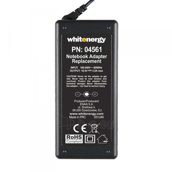 Nešiojamo kompiuterio pakrovėjas Whitenergy HP/Compaq 18.5V, 3.5A, 65W, 7.4x5.0 Paveikslėlis 4 iš 5 250256401024