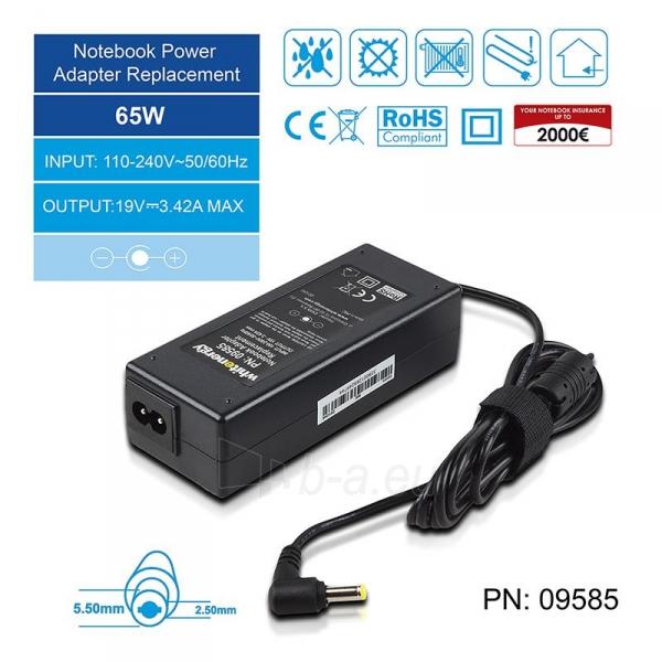 Nešiojamo kompiuterio pakrovėjas Whitenergy Multi 19V, 3.42A, 65W, 5.5x2.5 Paveikslėlis 3 iš 8 250256401038