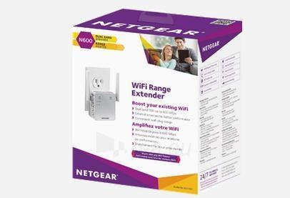Netgear AC750 WiFi Range Extender - 802.11n/ac, 1PT, Wall-plug Ext. Ant (EX3700) Paveikslėlis 2 iš 5 310820009130