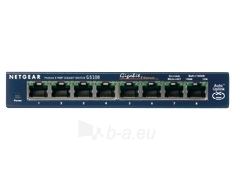 Netgear ProSafe 8-Port Gigabit Desktop Switch Metal (GS108GE) Paveikslėlis 1 iš 1 250257501210