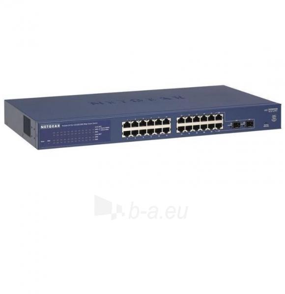 Netgear ProSafe Smart 24-Port GbE Switch, 2xSFP (GS724T v4) Paveikslėlis 1 iš 1 250257501367