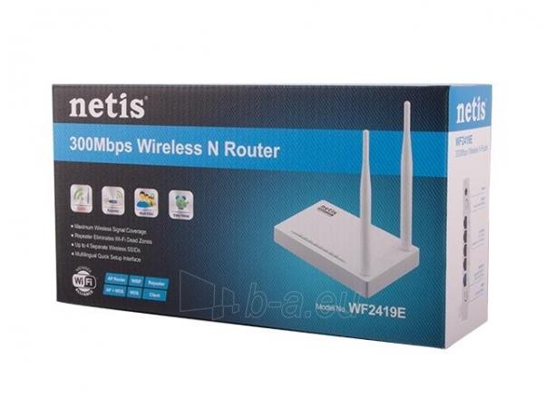 Netis Router DSL WIFI G/N300  LAN x4, 2x Antena 5 dBi Paveikslėlis 3 iš 4 250257200761