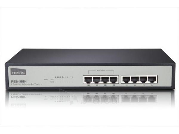 Netis Switch POE 19 8-port 100 MB (4 ports POE, 15,4W/Port, max 62W) Paveikslėlis 1 iš 1 250257501521
