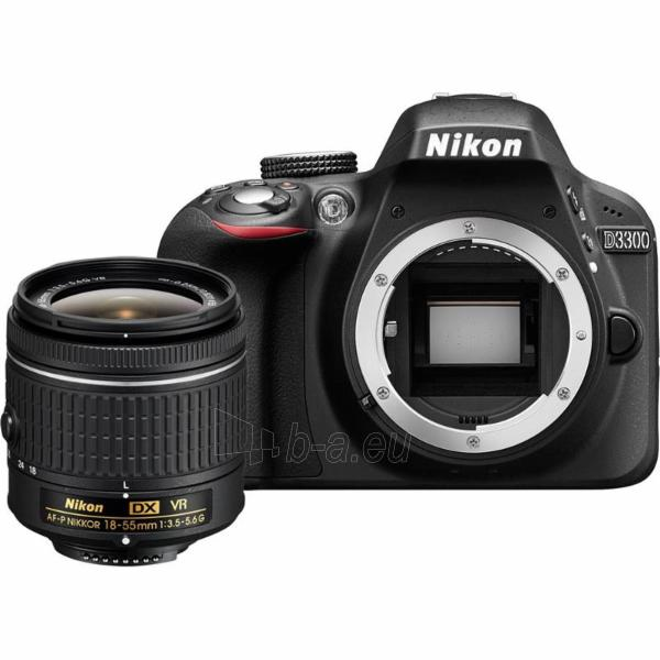 Nikon D3300 + AF-P 18-55VR KIT Paveikslėlis 1 iš 1 310820029595
