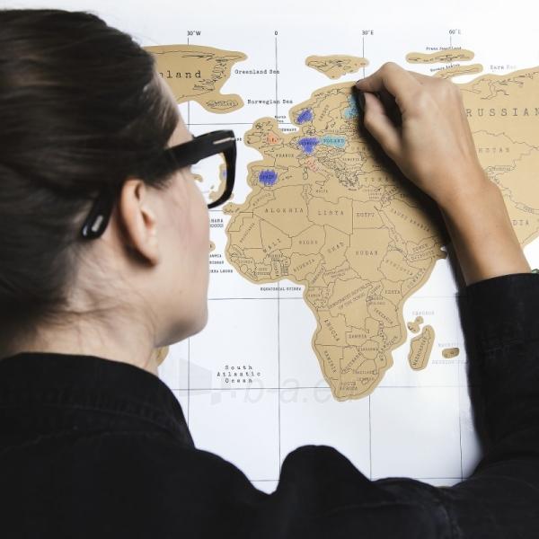 Nutrinamas pasaulio žemėlapis Paveikslėlis 1 iš 5 310820221287