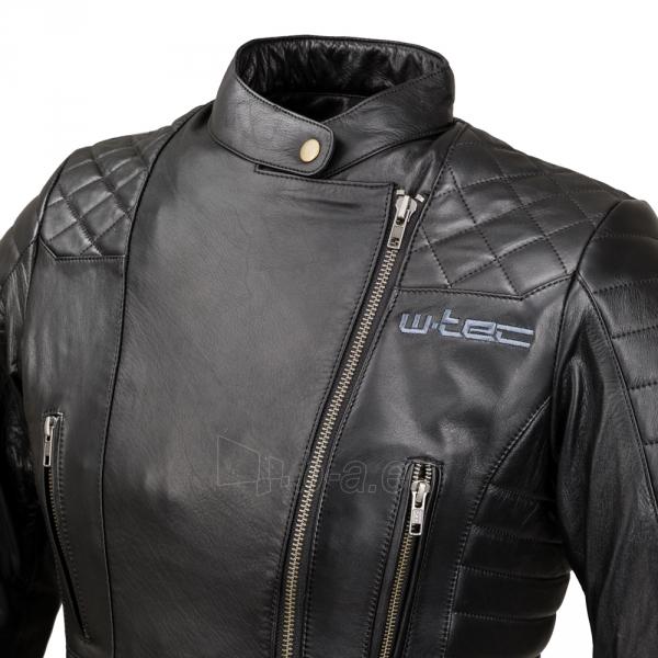 Odinė moteriška moto striukė su apsaugomis W-TEC Corallia Paveikslėlis 6 iš 10 310820218013