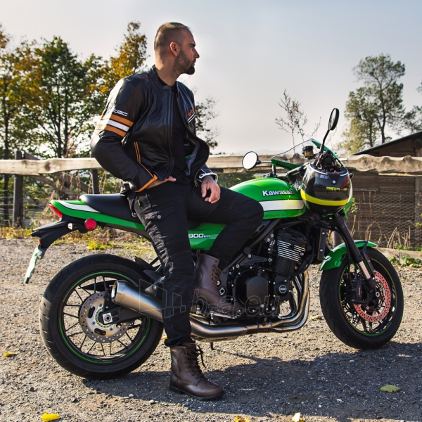 Odinė vyriška moto striukė su apsaugomis W-TEC Brenerro Paveikslėlis 7 iš 13 310820218014