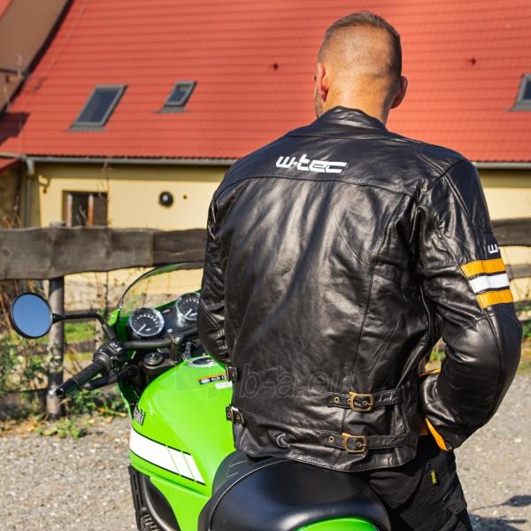 Odinė vyriška moto striukė su apsaugomis W-TEC Brenerro Paveikslėlis 6 iš 13 310820218014