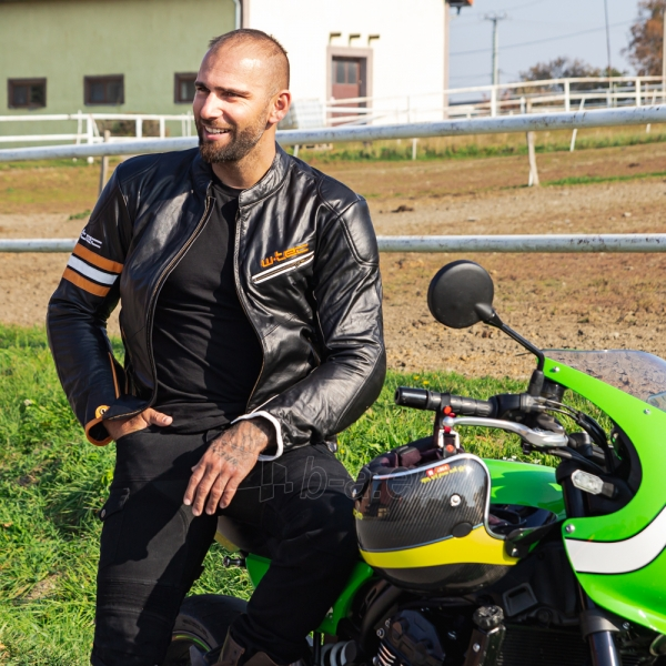 Odinė vyriška moto striukė su apsaugomis W-TEC Brenerro Paveikslėlis 5 iš 13 310820218014