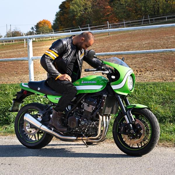 Odinė vyriška moto striukė su apsaugomis W-TEC Brenerro Paveikslėlis 4 iš 13 310820218014