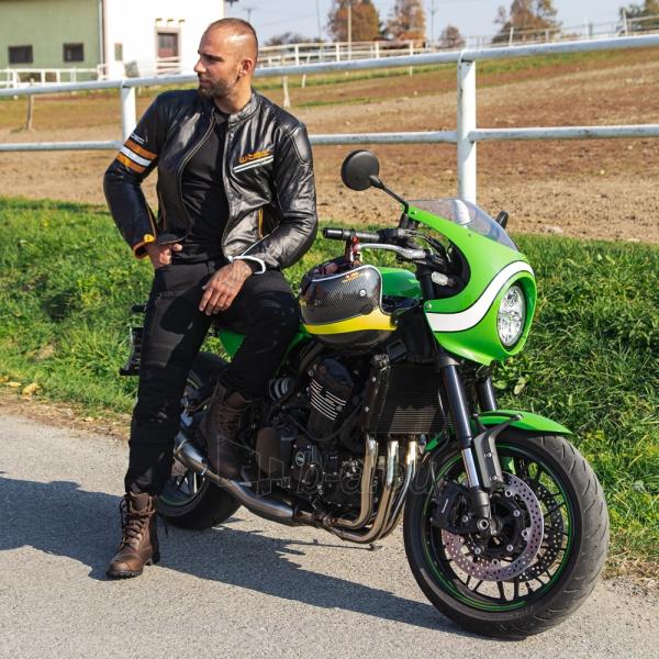 Odinė vyriška moto striukė su apsaugomis W-TEC Brenerro Paveikslėlis 3 iš 13 310820218014