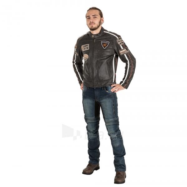 Odinė vyriška moto striukė su apsaugomis W-TEC Buffalo Cracker Paveikslėlis 8 iš 11 310820218011
