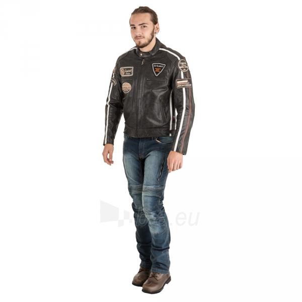 Odinė vyriška moto striukė su apsaugomis W-TEC Buffalo Cracker Paveikslėlis 7 iš 11 310820218011