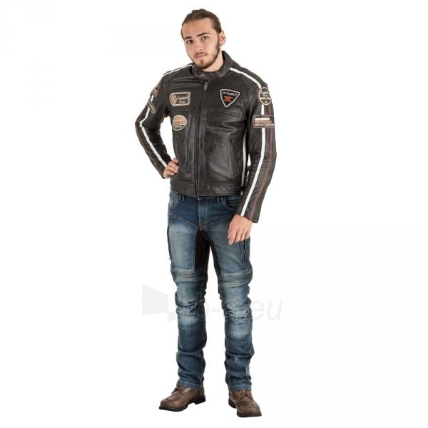 Odinė vyriška moto striukė su apsaugomis W-TEC Buffalo Cracker Paveikslėlis 6 iš 11 310820218011