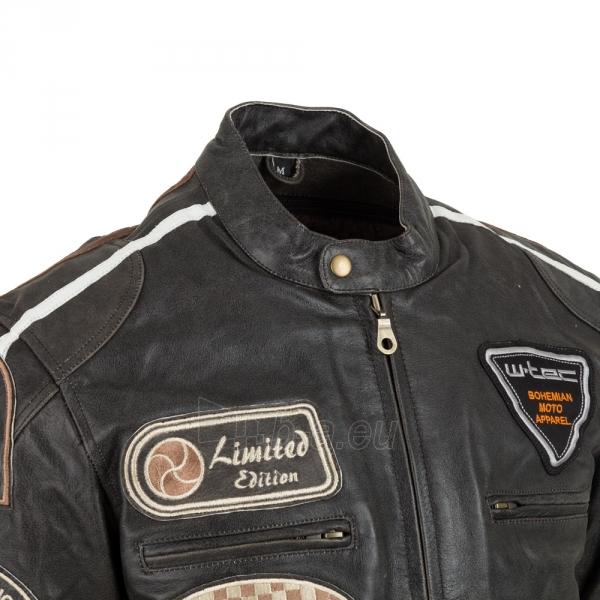 Odinė vyriška moto striukė su apsaugomis W-TEC Buffalo Cracker Paveikslėlis 5 iš 11 310820218011