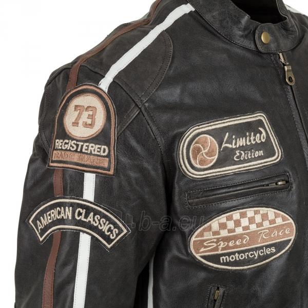 Odinė vyriška moto striukė su apsaugomis W-TEC Buffalo Cracker Paveikslėlis 3 iš 11 310820218011