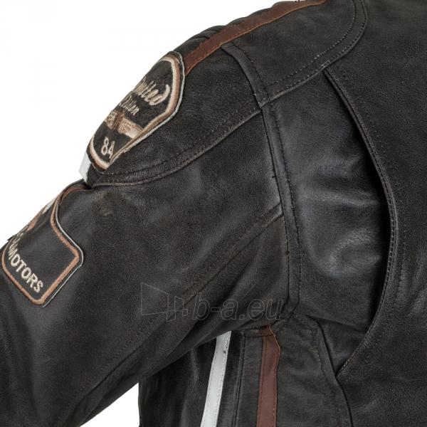 Odinė vyriška moto striukė su apsaugomis W-TEC Buffalo Cracker Paveikslėlis 11 iš 11 310820218011