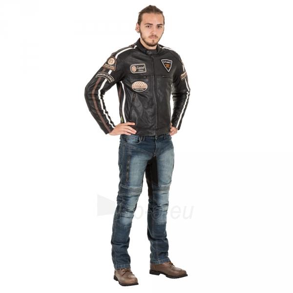 Odinė vyriška moto striukė su apsaugomis W-TEC Sheawen Paveikslėlis 9 iš 13 310820218028