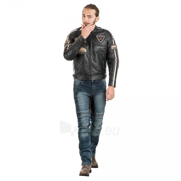 Odinė vyriška moto striukė su apsaugomis W-TEC Sheawen Paveikslėlis 8 iš 13 310820218028