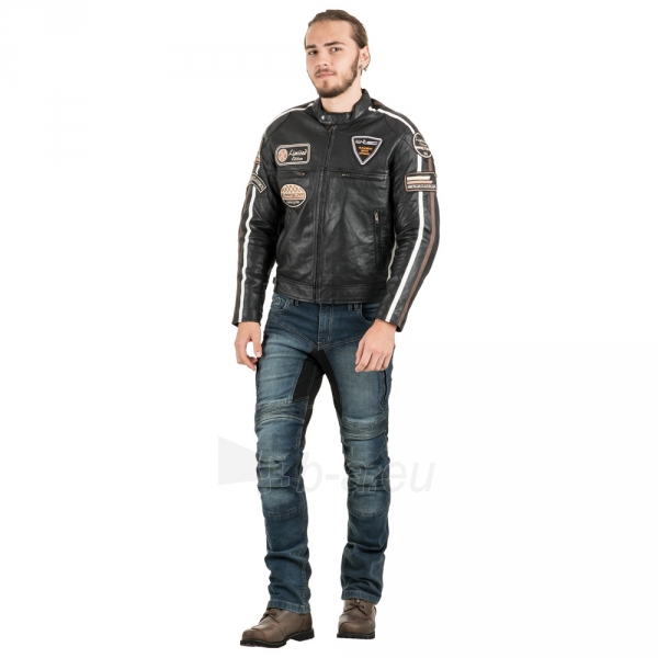 Odinė vyriška moto striukė su apsaugomis W-TEC Sheawen Paveikslėlis 7 iš 13 310820218028