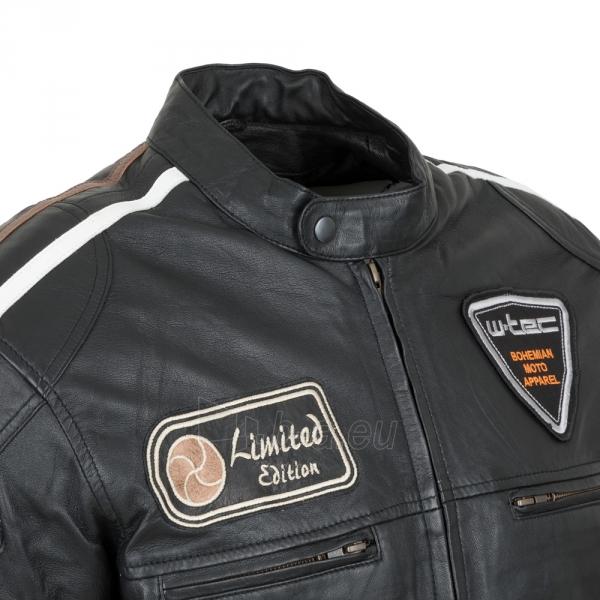 Odinė vyriška moto striukė su apsaugomis W-TEC Sheawen Paveikslėlis 6 iš 13 310820218028