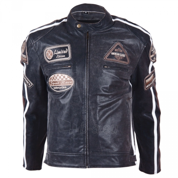 Odinis motociklininko striukė BOS 2058 Black Paveikslėlis 1 iš 12 310820083844