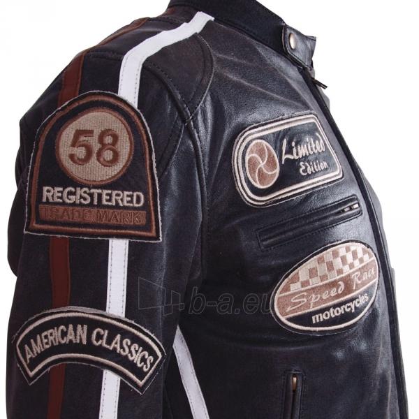 Odinis motociklininko striukė BOS 2058 Black Paveikslėlis 4 iš 12 310820083844