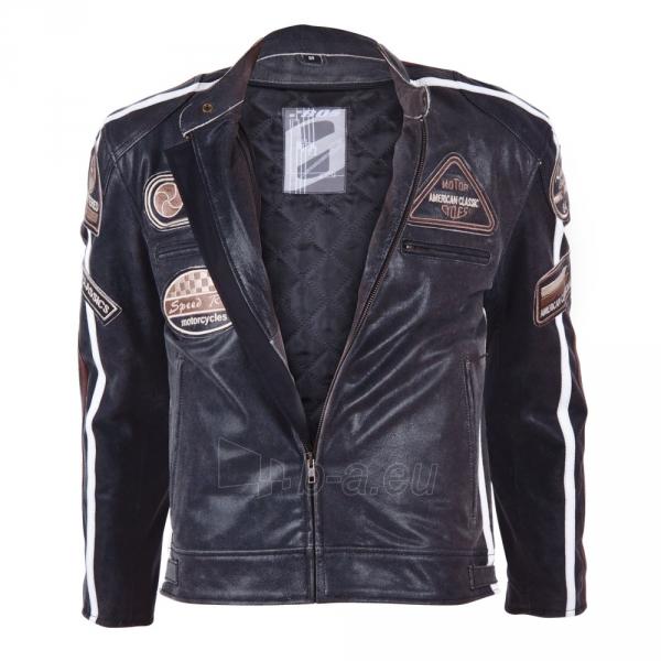 Odinis motociklininko striukė BOS 2058 Black Paveikslėlis 12 iš 12 310820083844