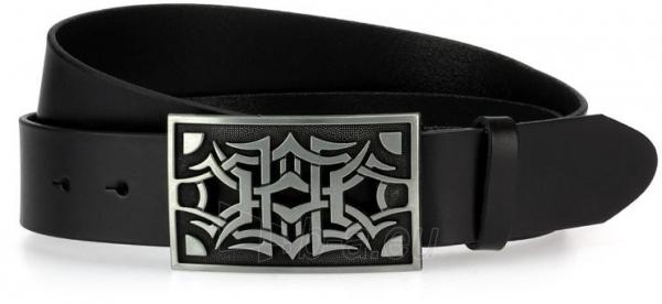 Odinis vyriškas diržas Eliana (juodos spalvos) Paveikslėlis 1 iš 4 310820035906