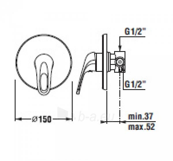 OLYMP Potinkinis dušo maišytuvas, chromuotas Paveikslėlis 1 iš 2 270721000200