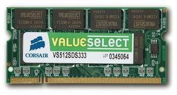 Oper.atmintis CORSAIR DDR2 2GB SODIMM 667MHZ CL5 Paveikslėlis 1 iš 1 250255110052