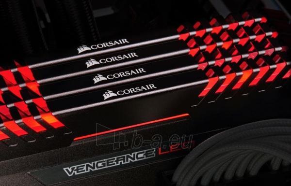 Operatyvinė atmintis Corsair Vengeance LED 2x8GB DDR4 2666MHz C16 - Red LED Paveikslėlis 1 iš 2 310820044157