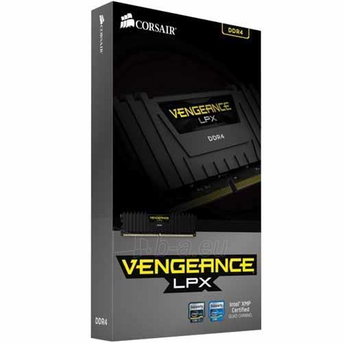 Operatyvinė atmintis Corsair Vengeance® LPX 2x16GB DDR4 2400MHz C14 Memory Kit - Black Paveikslėlis 2 iš 2 310820044140