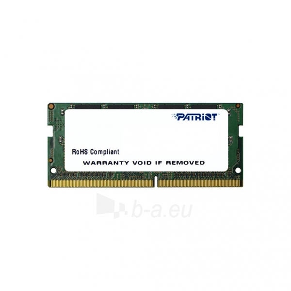 Operational memory Patriot Signature Line 8GB DDR4 2133MHz CL15 SODIMM Paveikslėlis 1 iš 1 310820044149