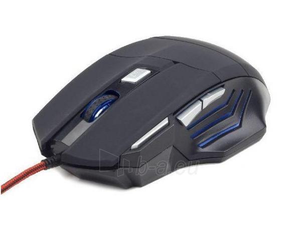 Optinė žaidimų pelė Gembird 3600 DPI, USB, Juoda Paveikslėlis 1 iš 7 250255031527