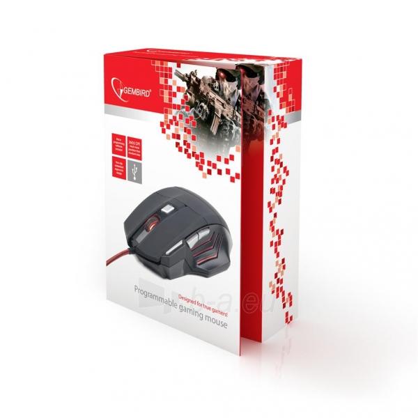 Optinė žaidimų pelė Gembird 3600 DPI, USB, Juoda Paveikslėlis 7 iš 7 250255031527