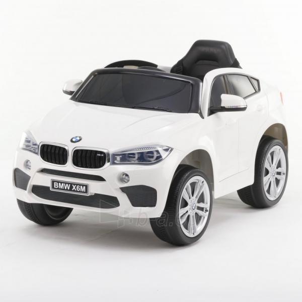 Originalus baltas elektromobilis BMW X6M 2199 su nuotolinio valdymo pultu (WDJJ2199) Paveikslėlis 2 iš 4 310820224998