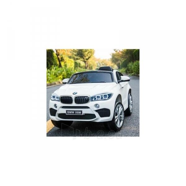Originalus baltas elektromobilis BMW X6M 2199 su nuotolinio valdymo pultu (WDJJ2199) Paveikslėlis 3 iš 4 310820224998
