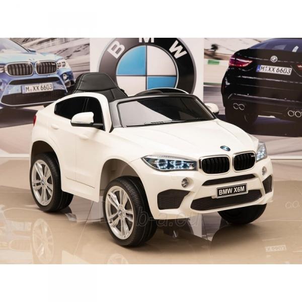 Originalus baltas elektromobilis BMW X6M 2199 su nuotolinio valdymo pultu (WDJJ2199) Paveikslėlis 4 iš 4 310820224998