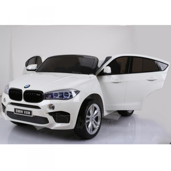 Originalus baltas elektromobilis BMW X6M 2199 su nuotolinio valdymo pultu (WDJJ2199) Paveikslėlis 1 iš 4 310820224998