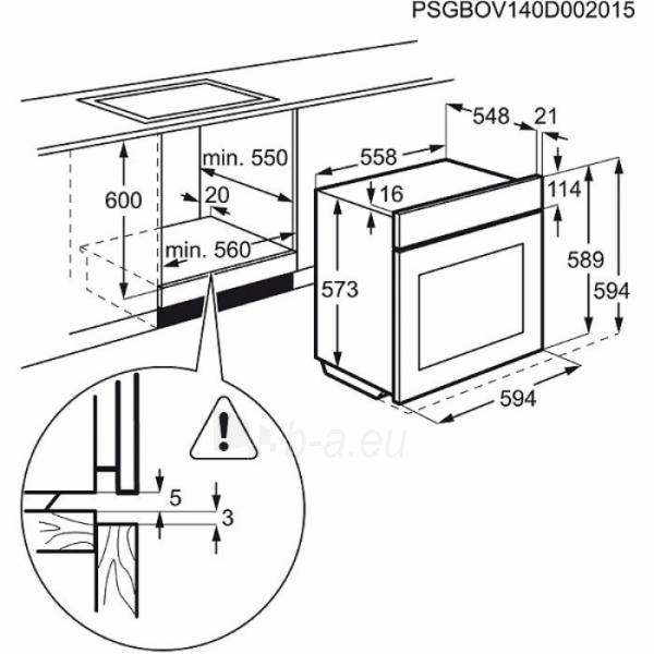 Oven Electrolux EOB43430OW Paveikslėlis 4 iš 4 250133000616