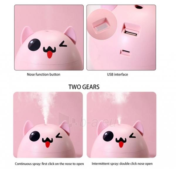 Oro drėkintuvas Hyunpet Pet Dog 200ml pink Paveikslėlis 5 iš 8 310820215736