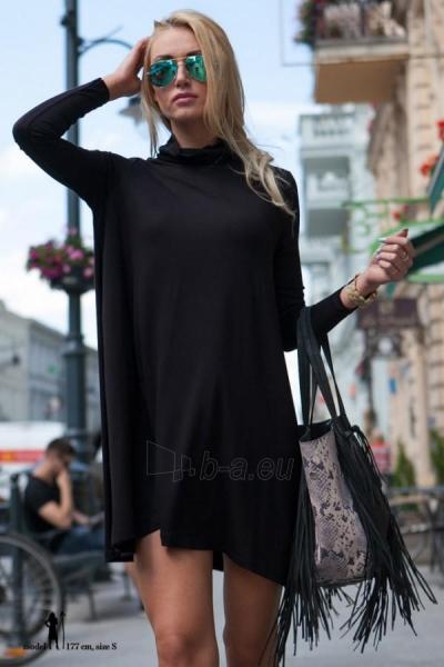 OVERSIZE stiliaus tunika Laima (juodos spalvos) Paveikslėlis 1 iš 5 310820032385