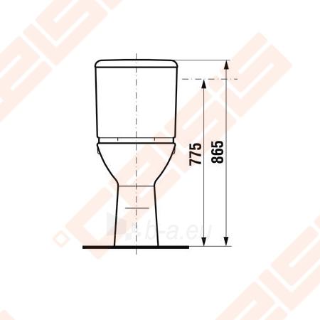 Paaukštinto kombinuoto pastatomo unitazo puodas JIKA Olymp neįgaliems, horizontals nuotakas, aukštis 48 cm Paveikslėlis 2 iš 4 270713001091