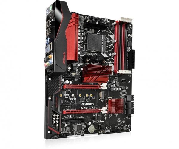 Pagrindinė plokštė ASRock 970A-G/3.1, 970, SB950, DualDDR3-1333, SATA3, M.2, USB 3.1, ATX Paveikslėlis 4 iš 5 310820017542
