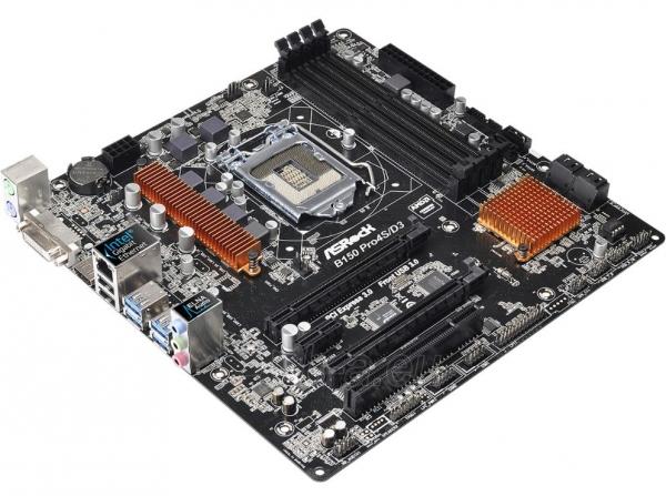 Pagrindinė plokštė ASROCK B150M Pro4S/D3 LGA1151 mATX Paveikslėlis 1 iš 1 310820017270