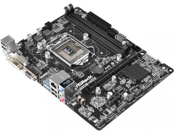Pagrindinė plokštė ASROCK B85M-HDS R2.0 LGA1150 mATX Paveikslėlis 1 iš 1 310820017271