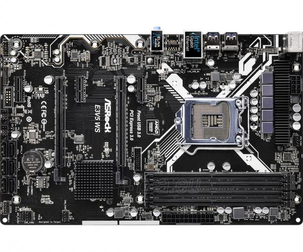 Pagrindinė plokštė ASRock E3V5 WS, C232, DualDDR4-2133, SATA3, RAID, ATX Paveikslėlis 2 iš 5 310820017546